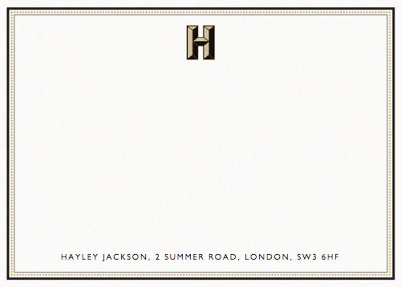 Monogram H | Personalised Stationery Set