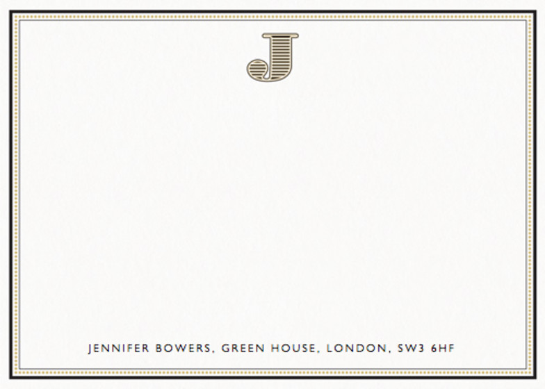 Monogram J | Personalised Stationery Set
