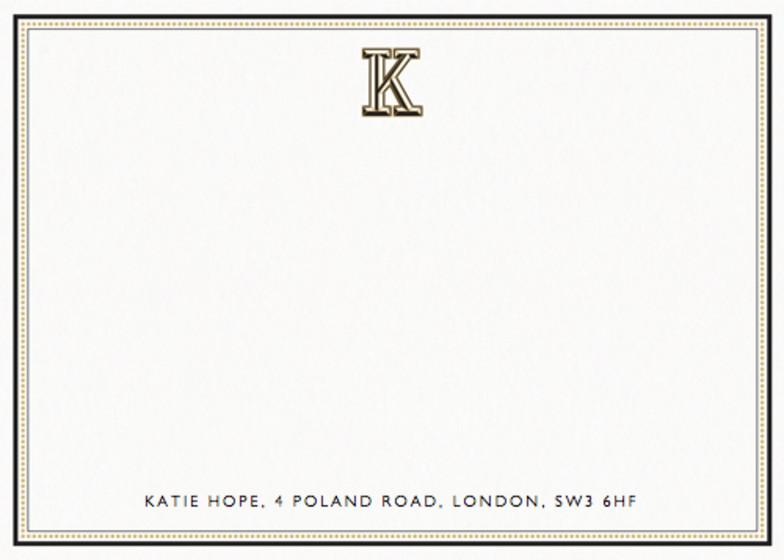 Monogram K | Personalised Stationery Set