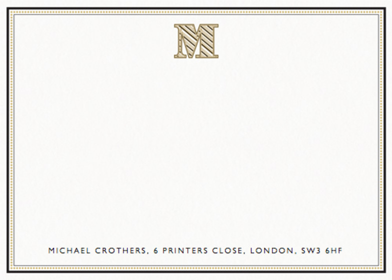 Monogram M | Personalised Stationery Set