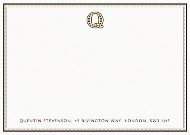 Monogram Q | Personalised Stationery Set