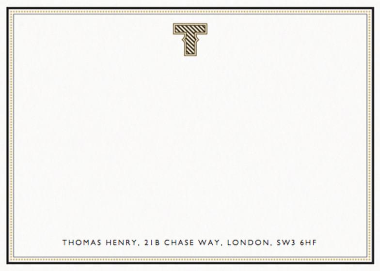 Monogram T | Personalised Stationery Set