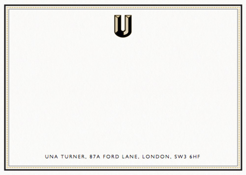Monogram U | Personalised Stationery Set