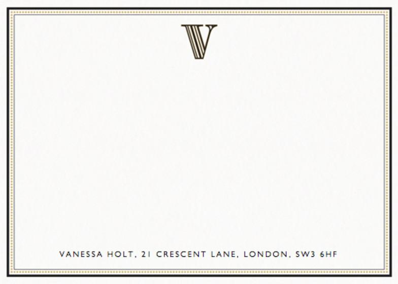 Monogram V | Personalised Stationery Set