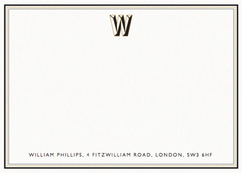 Monogram W | Personalised Stationery Set