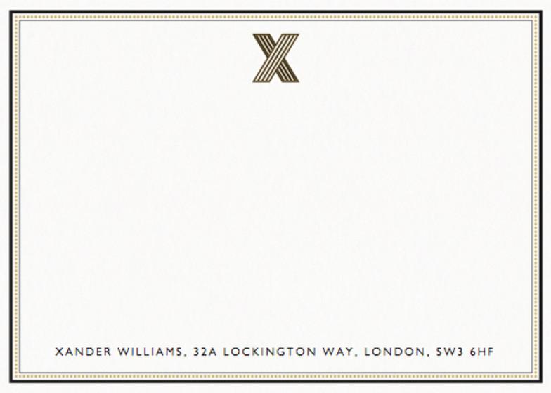 Monogram X | Personalised Stationery Set