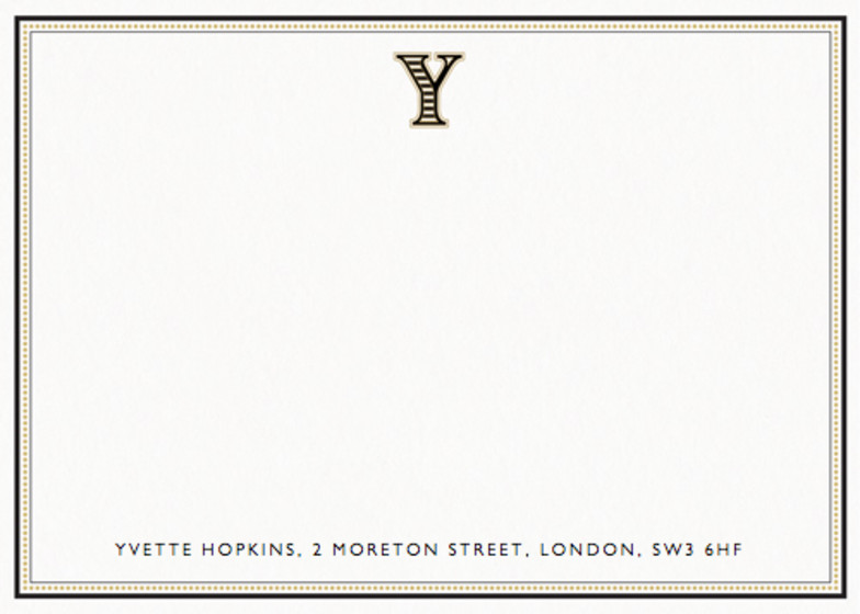 Monogram Y | Personalised Stationery Set
