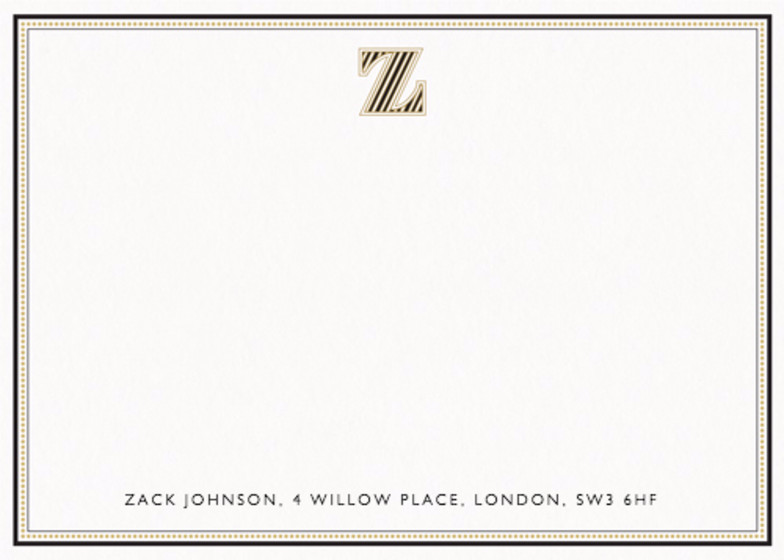 Monogram Z | Personalised Stationery Set