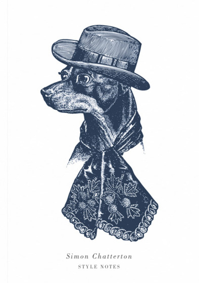 Sophisticated Dog | Personalised Lined Notebook