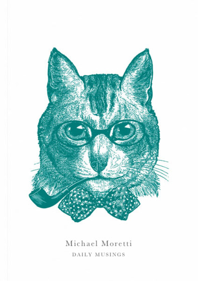 Sophisticated Cat   Personalised Lined Notebook