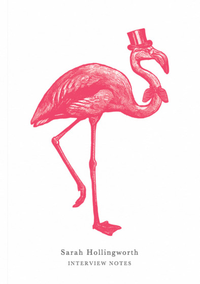 Sophisticated Flamingo | Personalised Lined Notebook