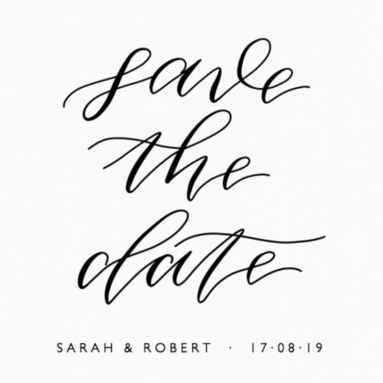 Save The Date Calligraphic | Personalised Save The Date