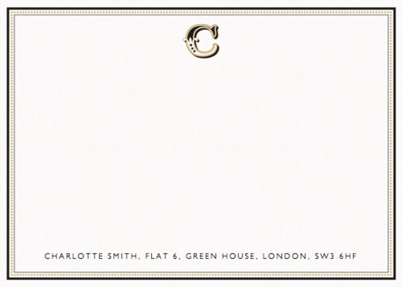 Monogram C  | Personalised Stationery Set