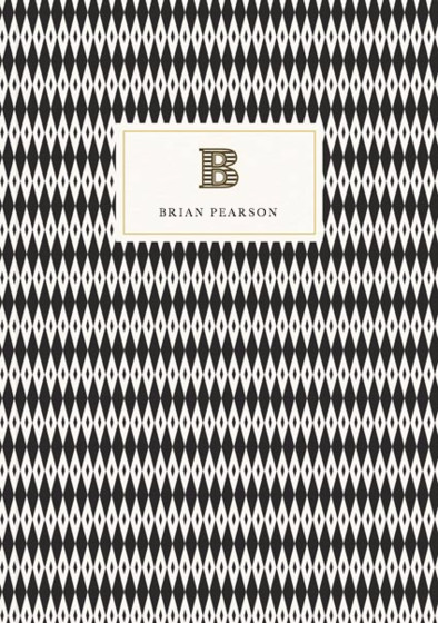 Monogramme B | Personalised Lined Notebook