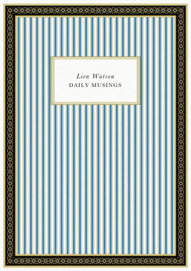Deco Lines Blue | Personalised Lined Notebook