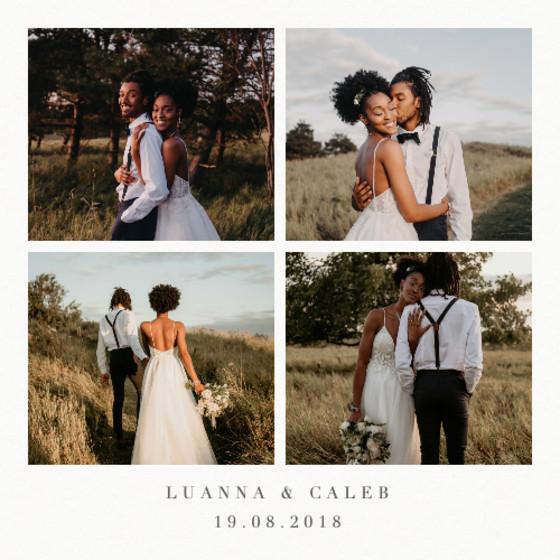 Four Photo Frame   Personalised Photo Card Set