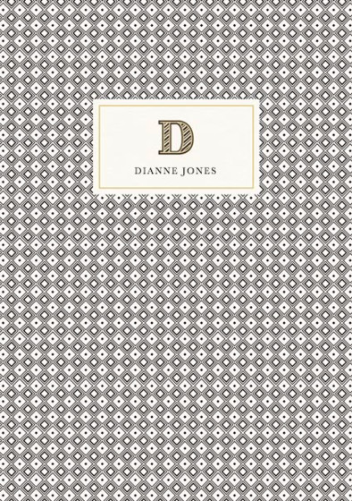 Monogramme D | Personalised Lined Notebook