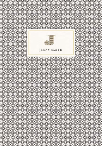 Monogramme J | Personalised Lined Notebook
