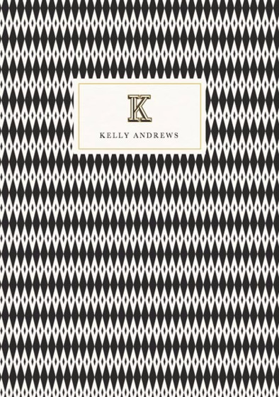 Monogramme K | Personalised Lined Notebook