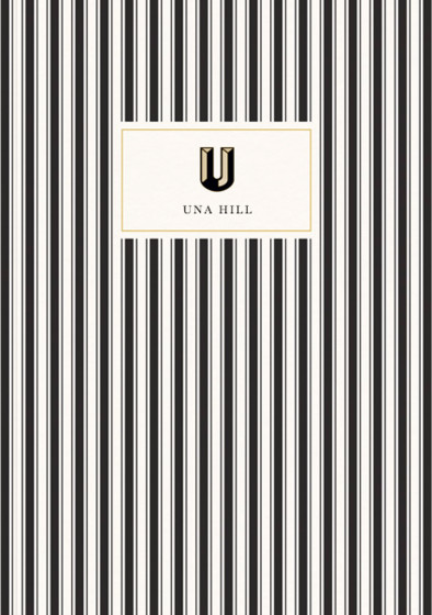 Monogramme U | Personalised Lined Notebook