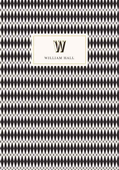 Monogramme W | Personalised Lined Notebook