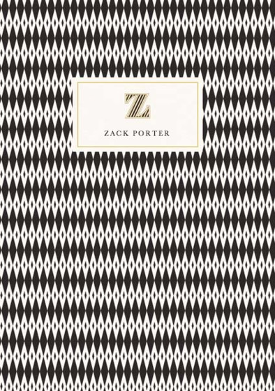 Monogramme Z | Personalised Lined Notebook