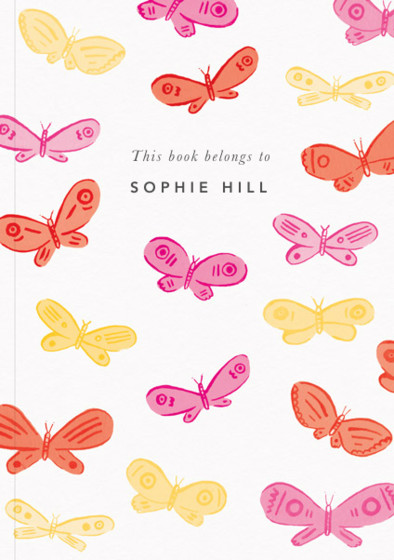 Pink Butterflies | Personalised Lined Notebook