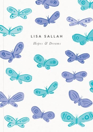 Blue Butterflies | Personalised Lined Notebook