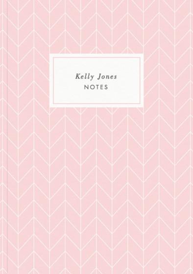 Herringbone Rose   Personalised Lined Notebook