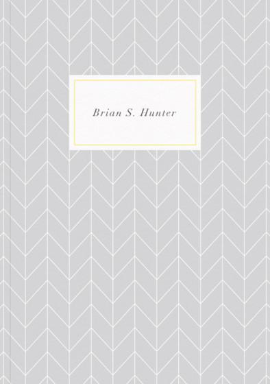Herringbone Grey | Personalised Lined Notebook