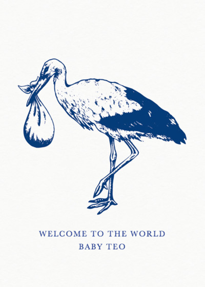 Stork | Personalised Congratulations Card