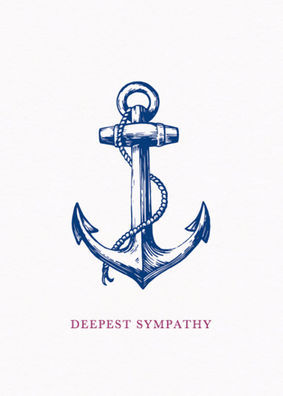 Anchor | Personalised Greeting Card