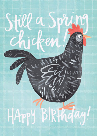 Spring Chicken | Personalised Birthday Card