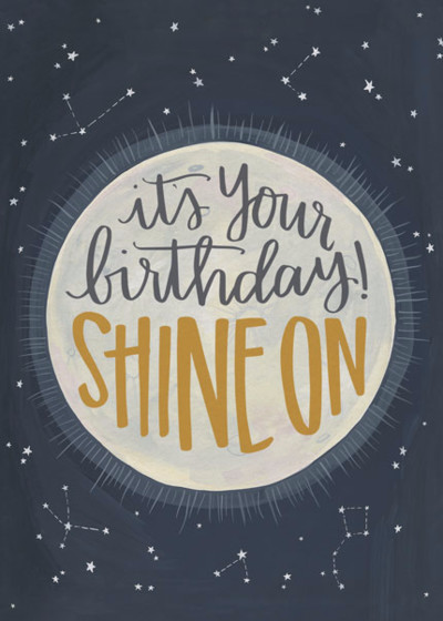 Shine On | Personalised Birthday Card