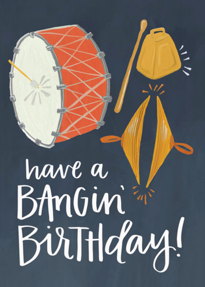 Bangin' Birthday | Personalised Birthday Card