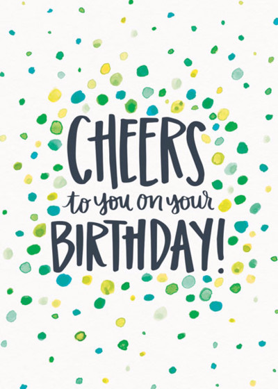 Birthday Cheers | Personalised Birthday Card
