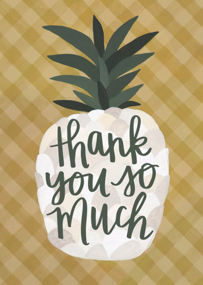 Thank You Pineapple | Personalised Thank You Card