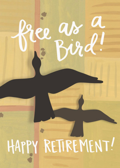 Free As A Bird | Personalised Good Luck Card