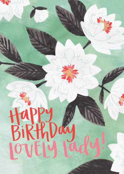Lovely Floral Birthday | Personalised Birthday Card