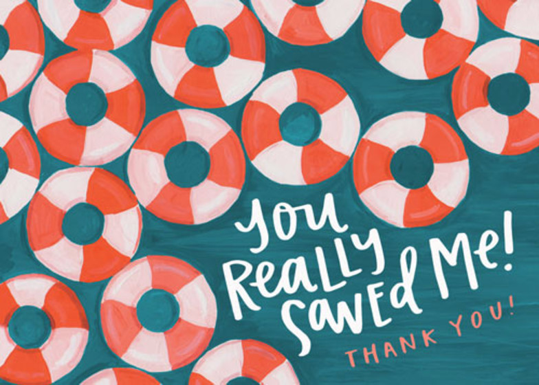 You Saved Me | Personalised Thank You Card