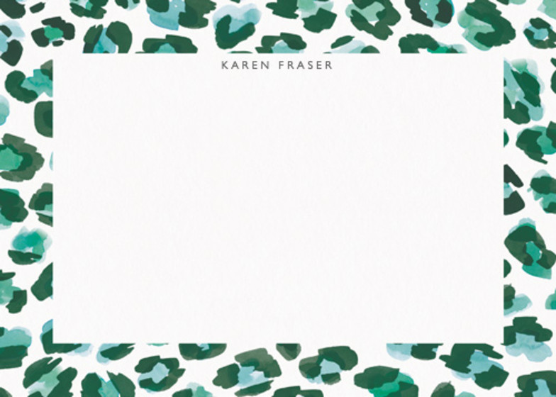 Leopard Green | Personalised Stationery Set