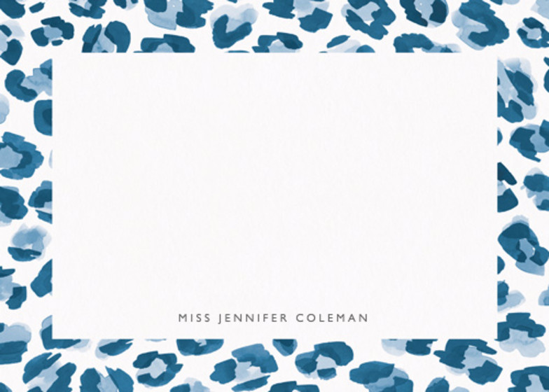Leopard Blue | Personalised Stationery Set