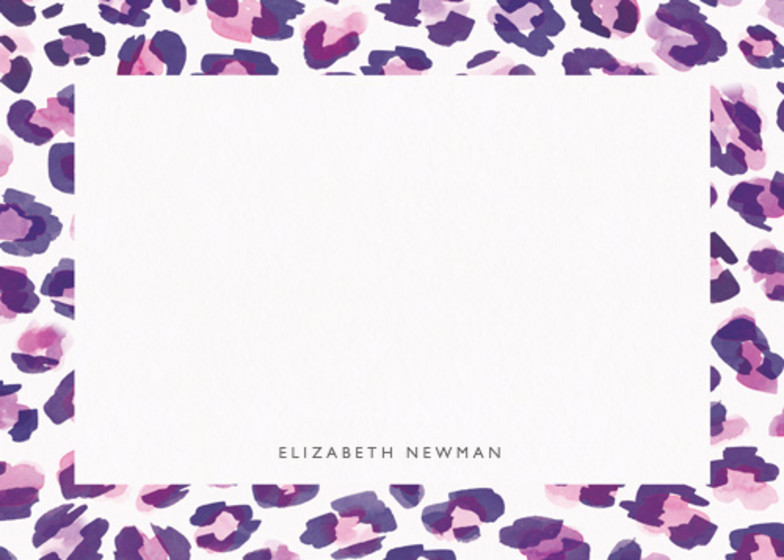 Leopard Purple | Personalised Stationery Set