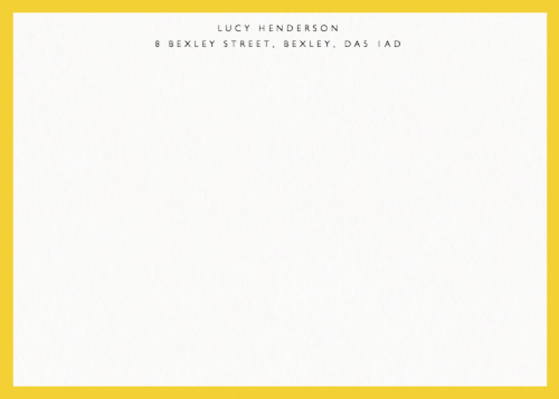 Classic Border Yellow | Personalised Stationery Set
