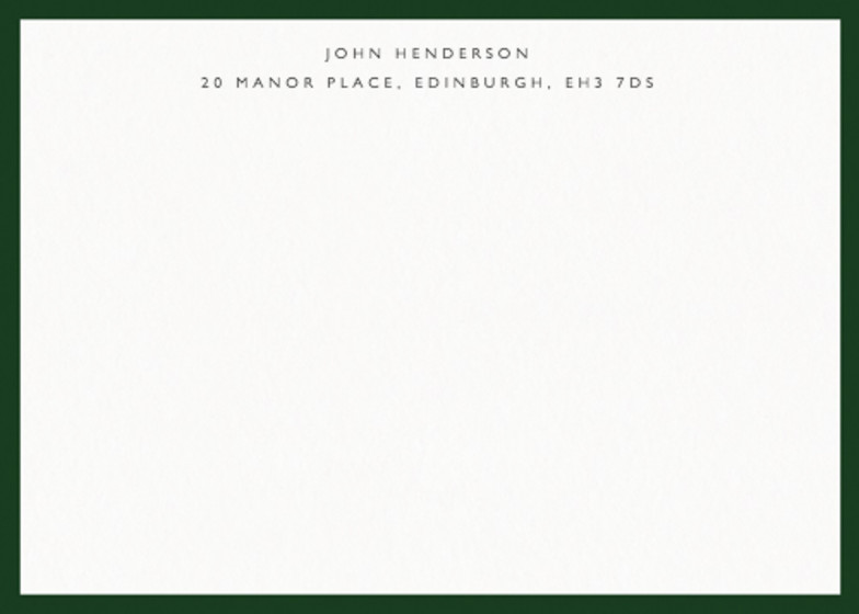 Classic Border Dark Green | Personalised Stationery Set