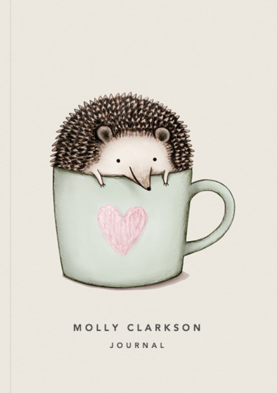 Hedgehog In A Mug | Personalised Lined Notebook