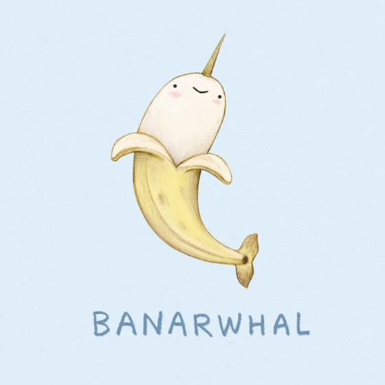 Banarwhal   Personalised Birthday Card