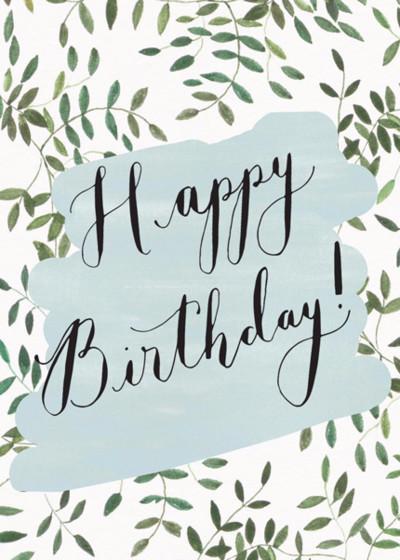 Birthday Botanical | Personalised Birthday Card