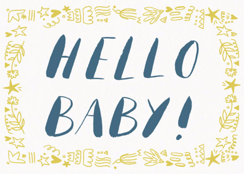 Hello Baby | Personalised Congratulations Card