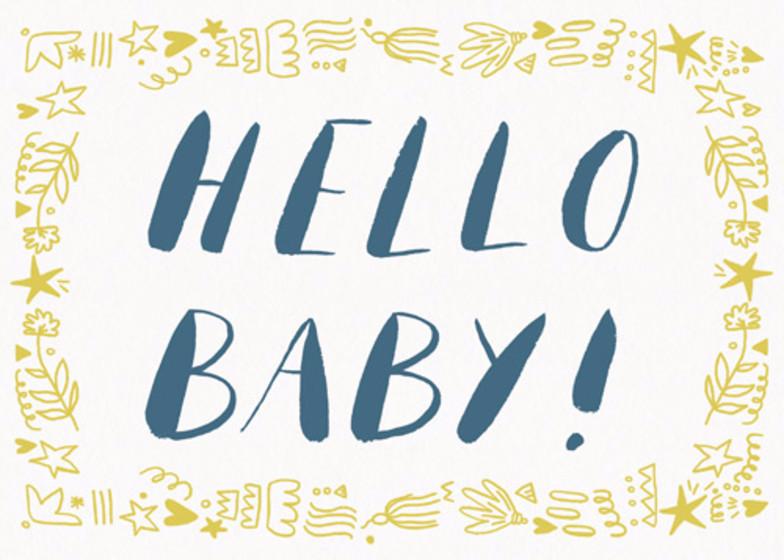 Hello Baby | Personalised Congratulations Card